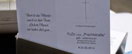 """Obdachlosenverbot: 300 Menschen bei Trauerfeier für """"FuZo, geb. Lebensraum"""""""