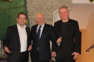 FPÖ-Landesobmann Abwerzger, Landtagspräsident van Staa, FPÖ-Landtagsklubobmann Federspiel