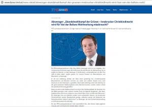 Screenshot FPÖ Tirol Homepage. Den ganzen Schmonzes gibt's hier nachzulesen: http://www.fpoe-tirol.at/news-detail/abwerzger-skandalwahlkampf-der-gruenen-innsbrucker-christkindlmarkt-wird-fuer-van-der-bellens-wahl/