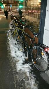 radl im schnee