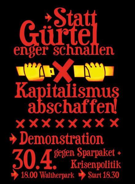 Demo gegen Sparpaket und Krisenpolitik