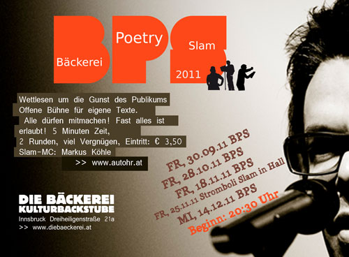Poetry Slam in der Bäckerei