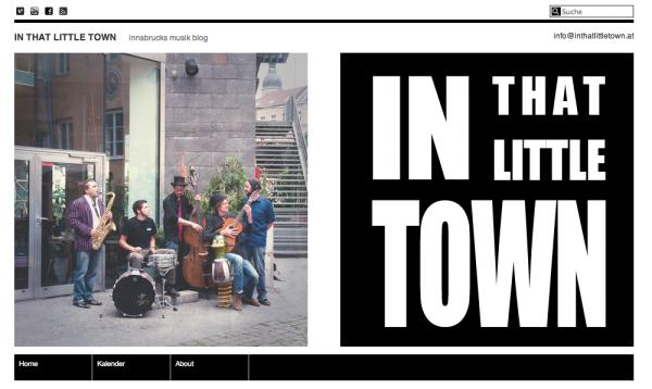 In That Little Town. Innsbrucks Musikblog