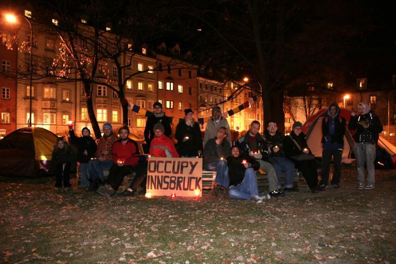 Occupy Innsbruck ist umgezogen