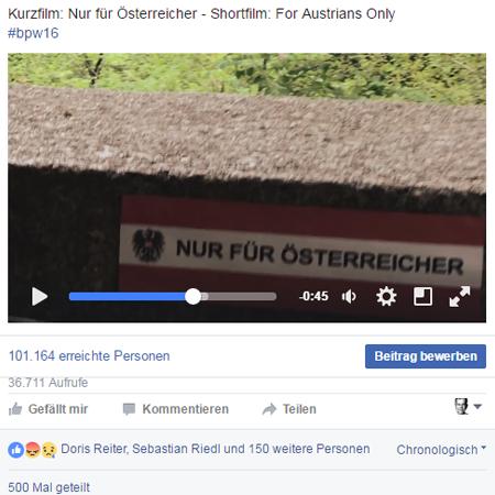 Nur für Österreicher - Facebook-Video